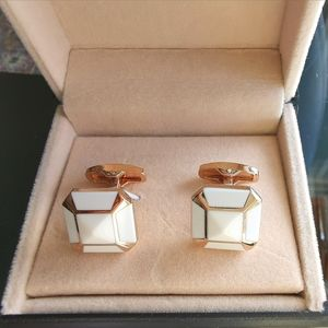 NWT cufflinks cuff links rose gold white